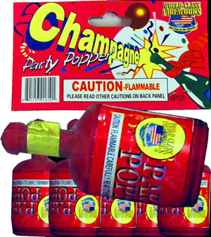 Champagne Party Poppers by World Class