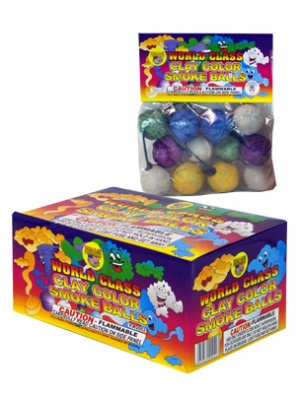 Clay Color Smoke Balls by World Class